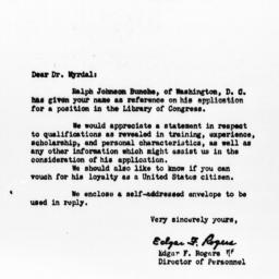 Letter from Edgar F. Rogers...
