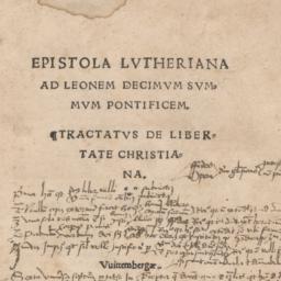 Epistola Lutheriana ad Leon...
