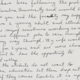 Letter to President Kirk fr...