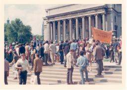 1968 counter commencement with people on steps