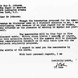 Letter from Zvi Cahn to Guy...