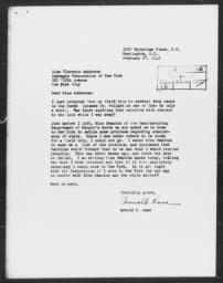 Letter from Arnold M. Rose to Florence Anderson, February 27, 1943