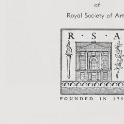1961 Royal Society of Arts ...