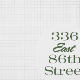 336 East 86th Street