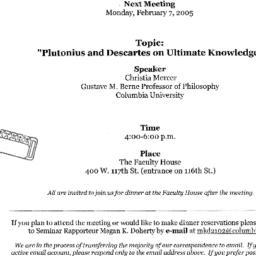 Announcements, 2005-02-07. ...