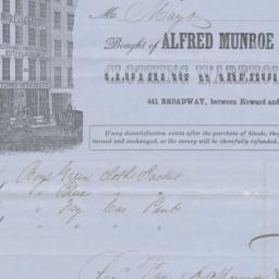Alfred Munroe & Co. Bill or...