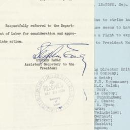 Letter to Secretary of Labo...