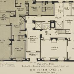 1020 Fifth Avenue, Plan Of ...