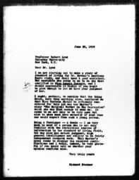 Letter from Richard Sterner to Robert Lynd, June 20, 1939