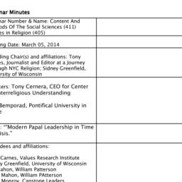 Minutes, 2014-03-05. Studie...