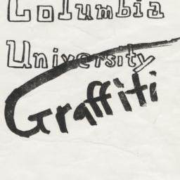 Columbia University Graffiti