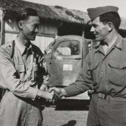 Lt. Rhule Handshake (closeup)