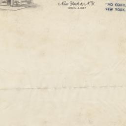 Lewis & Son. Letter