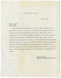 Copy of Telegram to Boston Globe from Frances Perkins, Industrial Commissioner New York
