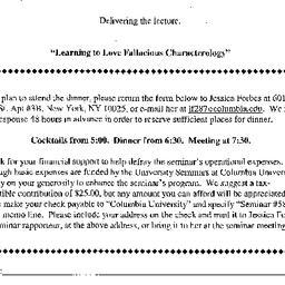 Announcements, 2001-04-06. ...