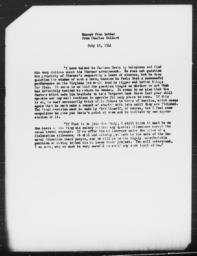 Excerpt from letter from Charles Dollard to Gunnar Myrdal, July 18, 1941; enclosed with July 19, 1941 letter from Gunnar Myrdal to Richard Sterner
