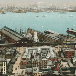"""""""American Line"""" Docks; Foot..."""