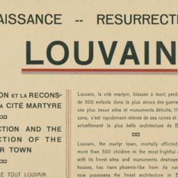 Louvain : la Renaissance --...
