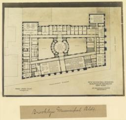 B. Third story plan. New Municipal Building, Borough of Brooklyn, New York. McKim, Mead & White, Architects