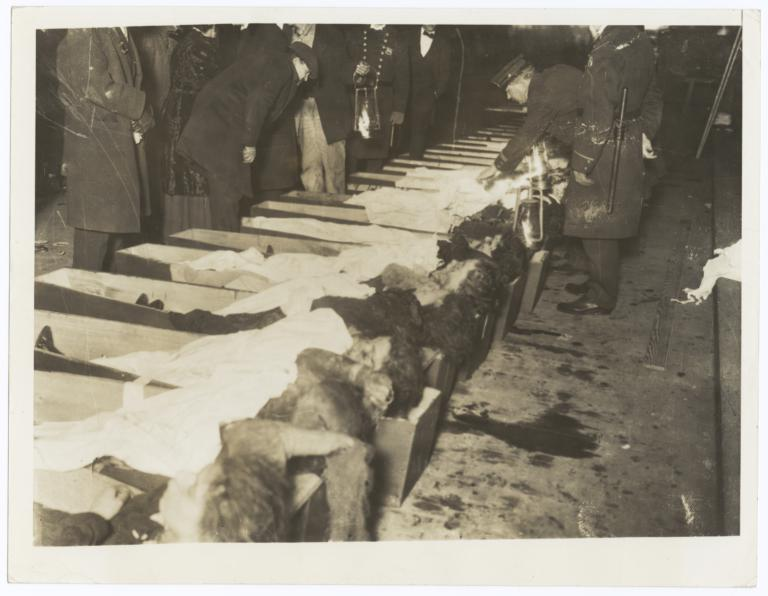 bodies of triangle shirtwaist factory fire victims at the