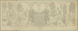 Puvis de Chavannes. -- Les Muses inspiratrices acclament le Génie messager de lumière. (Panneau destiné a l'escalier de la Bibliothèque de Boston]