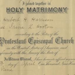 Marriage Certificate of Hub...