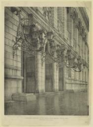 Candelabra: entrance of the Boston Public Library, Boston, Mass. McKim, Mead & White, Architects