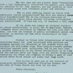 Letter from Edwin I. Stearn...
