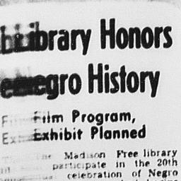 Article on Madison Library'...