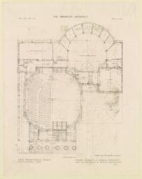 First floor plan. First Presbyterian Church, Chattanooga, Tenn. Messrs. Bearden & Forman and McKim, Mead & White, Associated Architects