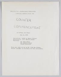 Invitation to counter-commencement
