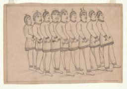 Line of Nine Men (recto)