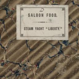 Saloon Food Account Book: S...