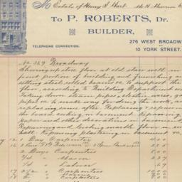 P. Roberts. Letter