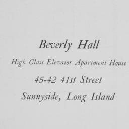 Beverly Hall, 45-42 41 Street