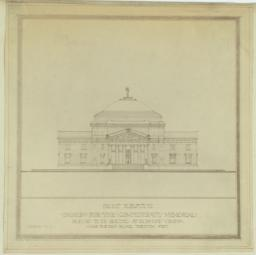 Design for the Confederate Memorial Proposed to be Erected at Richmond, Virginia. Front Elevation. Scheme No. II