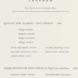 Music of Douglas Moore