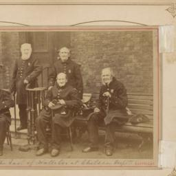 Five Elderly Soldiers, Seated
