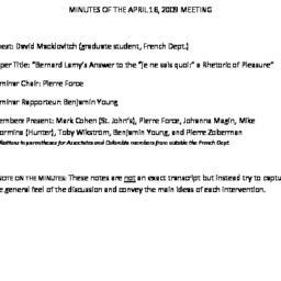 Minutes, 2009-04-16. Post-C...
