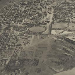 [Aerial view of model of th...