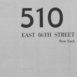 510 E. 86 Street