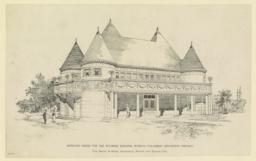 Approved design for the Wyoming Building, World's Columbian Exposition, Chicago. Van Brunt & Howe, Architects, Boston and Kansas City