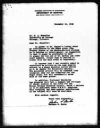 Letter from Barbara S. Burks to Samuel A. Stouffer, December 16, 1940