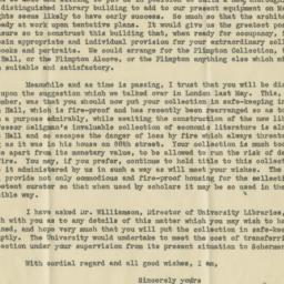 Letter to George A. Plimpto...