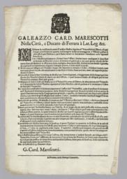 Galleazzo Card. Marescotti