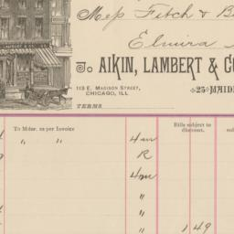 Aikin, Lambert & Co. Bill o...