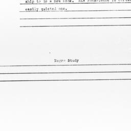 Note regarding letter from ...