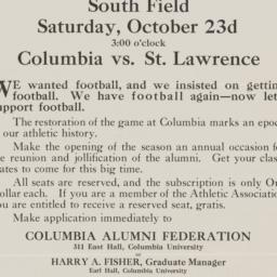 Football Game Announcement