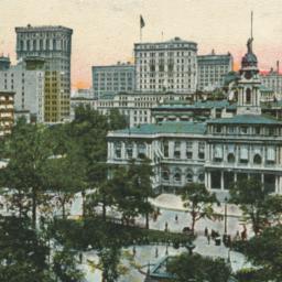 City Hall and Broadway , Ne...