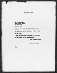Letter from Rowena S. Hadsell to T. Arnold Hill, September 5, 1940